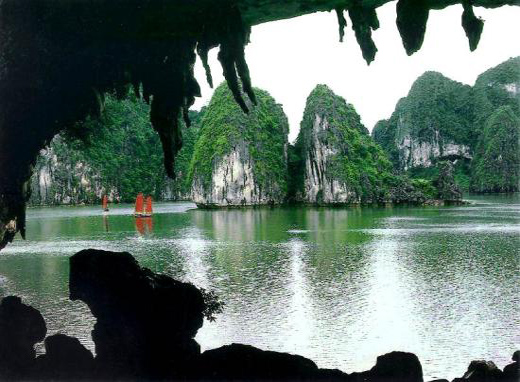 Bo Nau cave in Halong bay